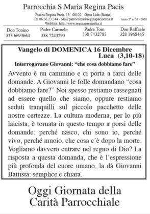 newsletter 16 Dicembre 2018